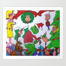 Mature Grinch Stole Christmas Art Print