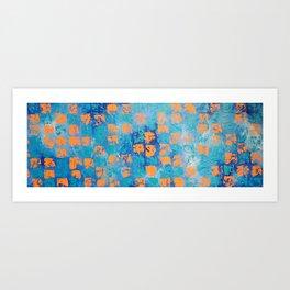 Abstract - True Blue Art Print
