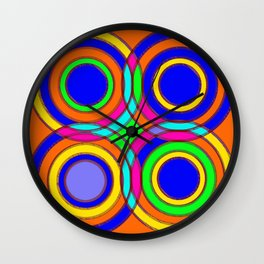 couleurs et cercles Wall Clock
