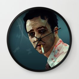 The day Edward stopped to care Wall Clock