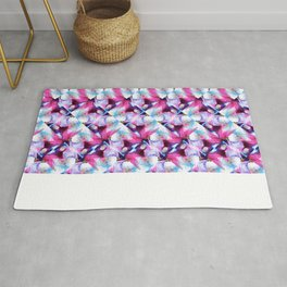 Rainbow Down Abstract Watercolor Painting Rug