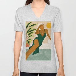 The Wait Is Long But My Dream Of You Does Not End #illustration Unisex V-Neck