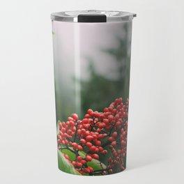 Red Elderberries Travel Mug