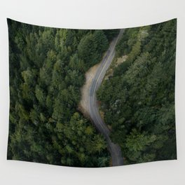 NATURE - PHOTOGRAPHY - FOREST - HIGHWAY - ROAD - TRIP - TREES Wall Tapestry