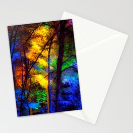 Rainbow Enchanted Forest Stationery Cards