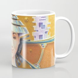 Portrait with chromed Non La Coffee Mug