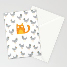 Cat Among The Pigeons Stationery Cards