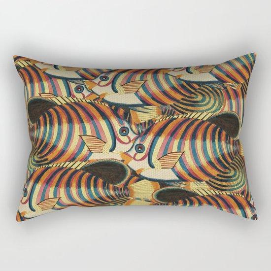 Crowd Fish 2 Rectangular Pillow