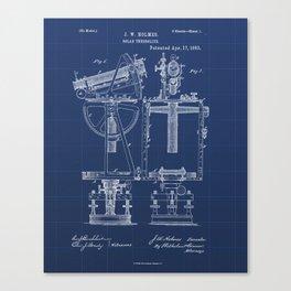 Solar Theodolite Vintage Patent Hand Drawing Canvas Print