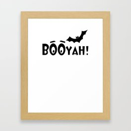 Booyah batty halloween Framed Art Print