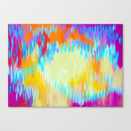 Bright abstract art with Happy Colours Canvas Print