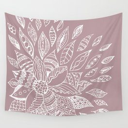 Scattered Petals on Vintage Backdrop Wall Tapestry