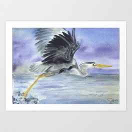 From Heron Out Art Print