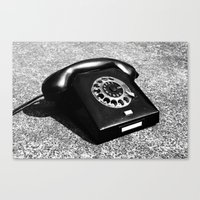 telephone Canvas Prints featuring telephone by Falko Follert Art-FF77