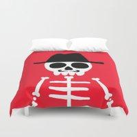 skeletor Duvet Covers featuring El Skeletor by David Allart