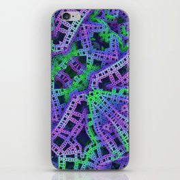 Green and purple film ribbons iPhone Skin