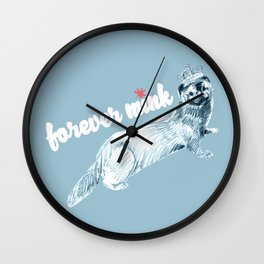 Forever Mink (c) 2017 Wall Clock