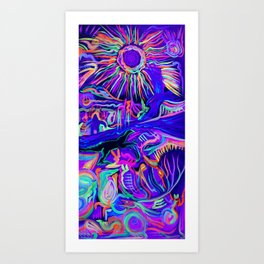 Standing Rock Sun Inverted Art Print