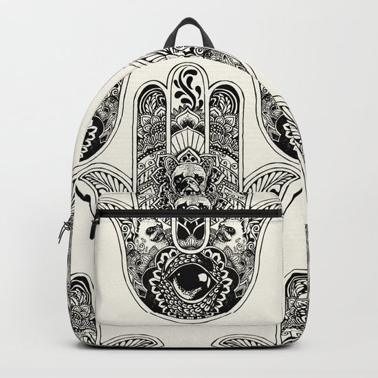 Hamsa Hand French Bulldog Backpack