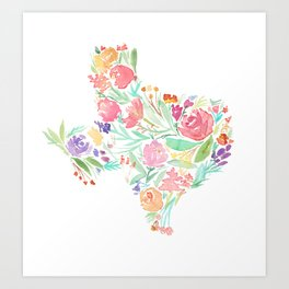 Bloomin' Texas Art Print
