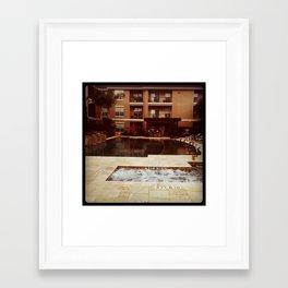 Houston Poolside 2 Framed Art Print