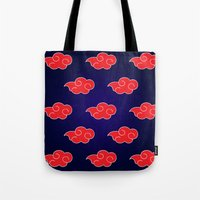 suit Tote Bags featuring Akatsuki Suit by bimorecreative