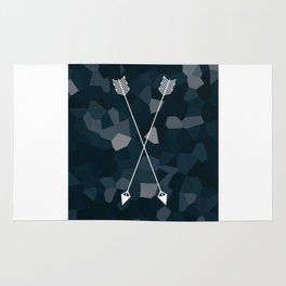 Two Blue Arrows Rug