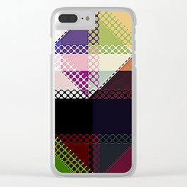 Pattern Multi Color Abstract Clear iPhone Case