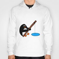 fishing Hoodies featuring Fishing by Kakida Lily