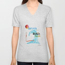 Summer at the Beach House Unisex V-Neck