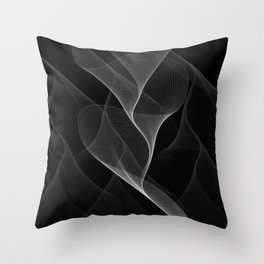 Black and White Flux #minimalist #homedecor #generativeart Throw Pillow