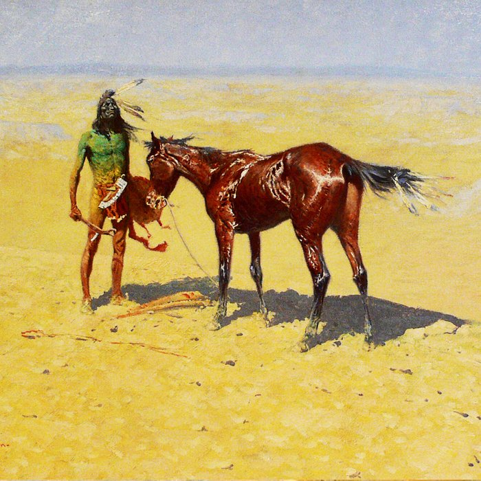 """Frederic Remington Western Art """"Hunted Down"""" Comforters"""