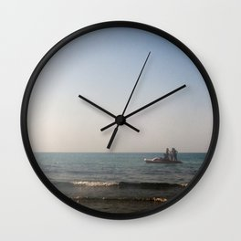 Pedal boat in Sicily Wall Clock