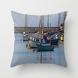 abstract harbour Throw Pillow