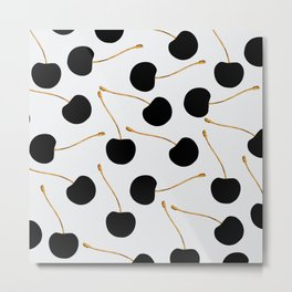 Black Cherries Metal Print