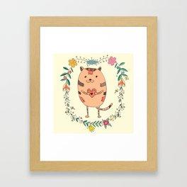Cute lovely cat Framed Art Print