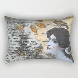 Romantic Lady Rectangular Pillow