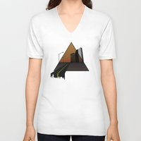 aperture V-neck T-shirts featuring Urban Aperture by MOLTA