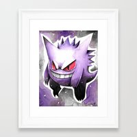 gengar Framed Art Prints featuring Gengar by DJ990J