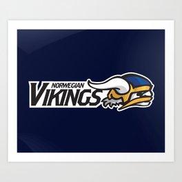 Norwegian Vikings Full Logo Art Print