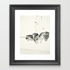 Pull out every hair one by one from each finger Framed Art Print