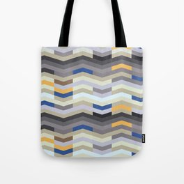 Modern Chevron - Peek O' Blue Tote Bag