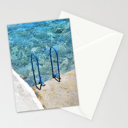 228. Sea Swimming Pool, Greece Stationery Cards