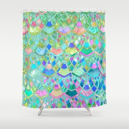 Art Deco Watercolor Patchwork Pattern 1 Shower Curtain