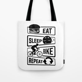 Eat Sleep Bike Repeat - Bicycle Racing Cycling Tote Bag