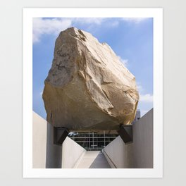 Levitated Mass II Art Print