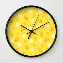 Volley Party! Wall Clock