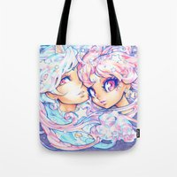 barachan Tote Bags featuring little dream by barachan