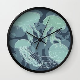 Jelly Fishes Wall Clock