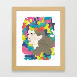 Exploded Head Framed Art Print